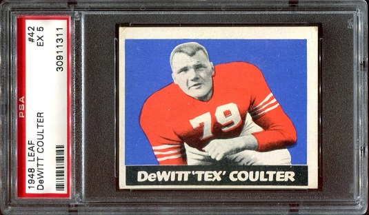 1948 Leaf #42 - Tex Coulter - PSA 5