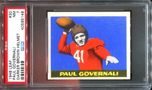 1948 Leaf #30B - Paul Governali - PSA 7