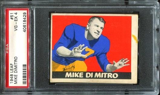 1948 Leaf #51 - Mike Dimitro - PSA 4