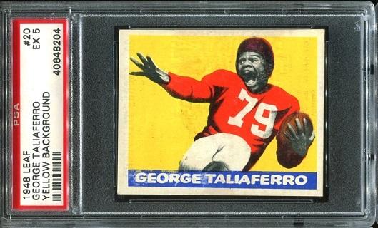 1948 Leaf #20 - George Taliaferro - PSA 5