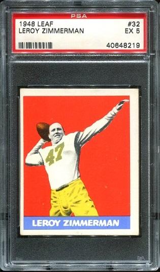 1948 Leaf #32 - Leroy Zimmerman - PSA 5