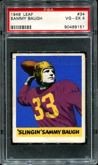 1948 Leaf #34 - Sammy Baugh - PSA 4