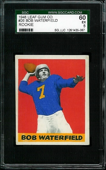 1948 Leaf #26B - Bob Waterfield - SGC 60