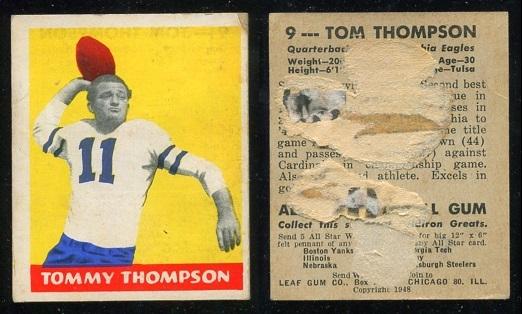 1948 Leaf #9B - Tommy Thompson - poor