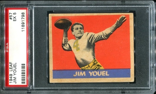 1949 Leaf #57 - Jim Youel - PSA 5
