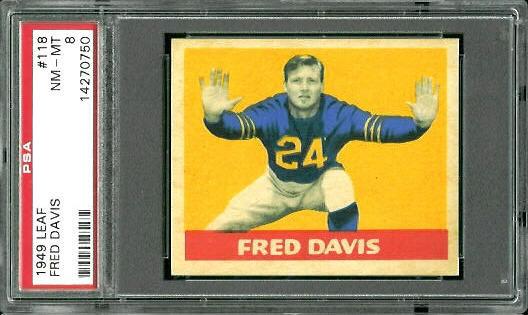 1949 Leaf #118 - Fred Davis - PSA 8