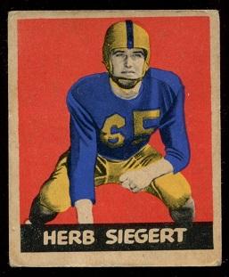 1949 Leaf #70 - Herb Siegert - vg+