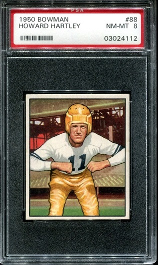 1950 Bowman #88 - Howard Hartley - PSA 8