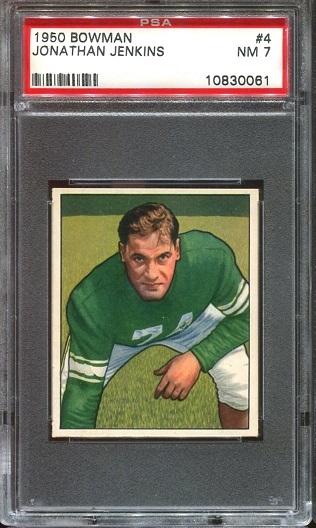 1950 Bowman #4 - Jonathan Jenkins - PSA 7