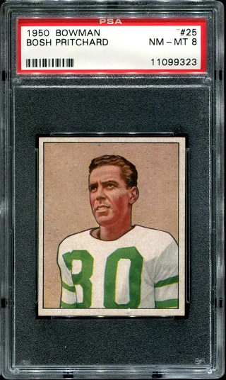 1950 Bowman #25 - Bosh Pritchard - PSA 8