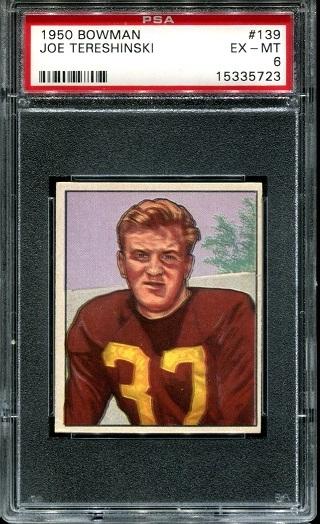 1950 Bowman #139 - Joe Tereshinski - PSA 6