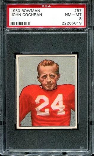 1950 Bowman #57 - John Cochran - PSA 8