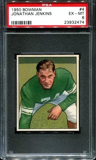 1950 Bowman #4 - Jonathan Jenkins - PSA 6