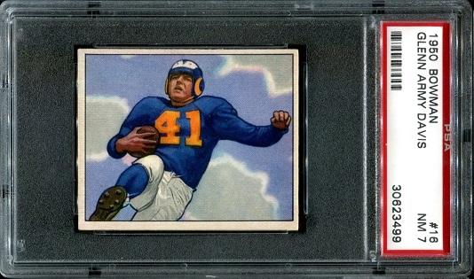 1950 Bowman #16 - Glenn Davis - PSA 7