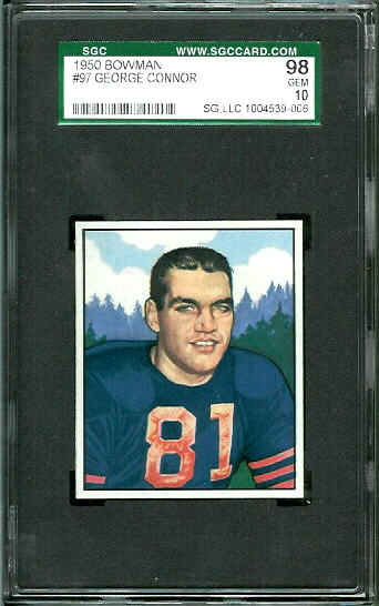 1950 Bowman #97 - George Connor - SGC 98