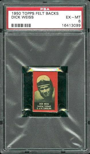 1950 Topps Felt Backs #95 - Dick Weiss - PSA 6