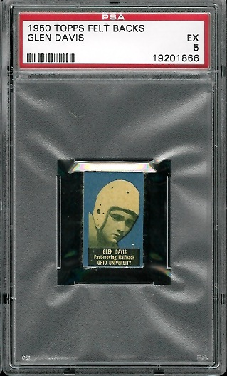1950 Topps Felt Backs #20 - Glen Davis - PSA 5