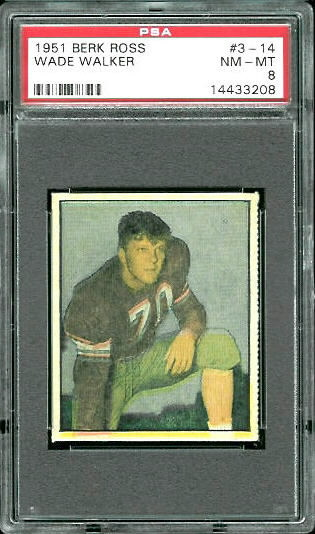 1951 Berk Ross #3-14 - Wade Walker - PSA 8