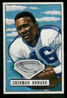 1951 Bowman #116 - Sherman Howard - vg