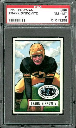 1951 Bowman #95 - Frank Sinkovitz - PSA 8