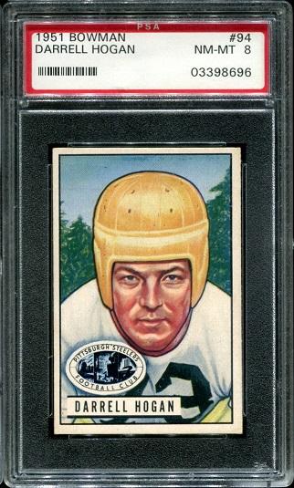 1951 Bowman #94 - Darrell Hogan - PSA 8