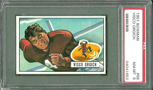 1951 Bowman #68 - Visco Grgich - PSA 8