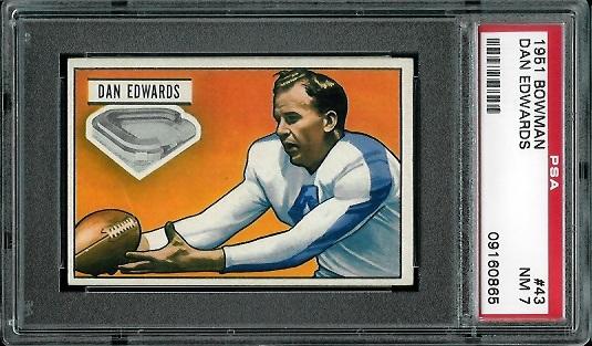 1951 Bowman #43 - Dan Edwards - PSA 7
