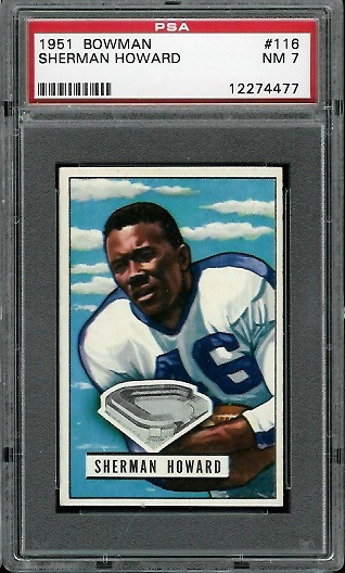 1951 Bowman #116 - Sherman Howard - PSA 7