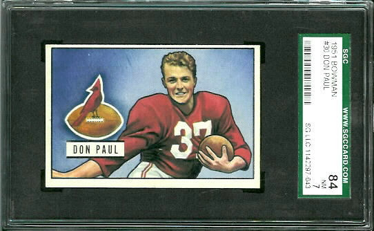 1951 Bowman #30 - Don Paul - SGC 84