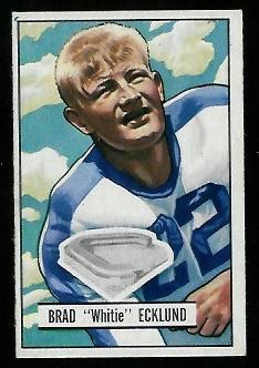 1951 Bowman #81 - Brad Ecklund - exmt
