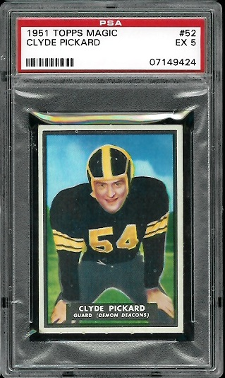 1951 Topps Magic #52 - Clyde Pickard - PSA 5