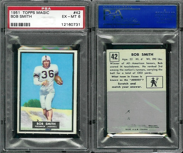 1951 Topps Magic #42 - Bob Smith - PSA 6