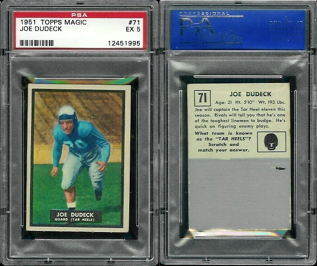 1951 Topps Magic #71 - Joe Dudeck - PSA 5