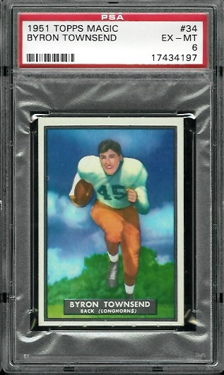 1951 Topps Magic #34 - Byron Townsend - PSA 6