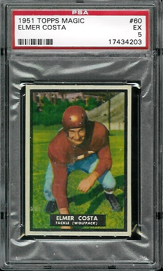 1951 Topps Magic #60 - Elmer Costa - PSA 5