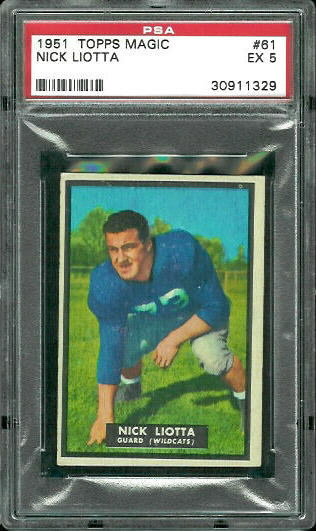 1951 Topps Magic #61 - Nick Liotta - PSA 5