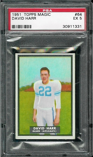 1951 Topps Magic #64 - David Harr - PSA 5
