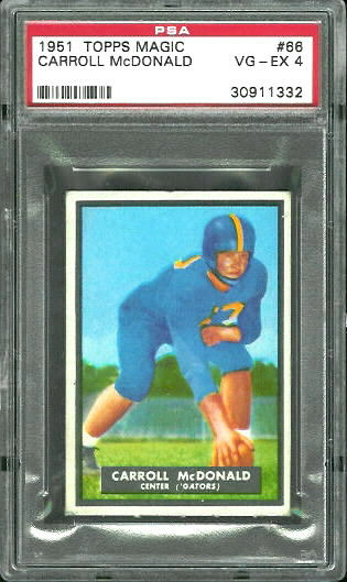 1951 Topps Magic #66 - Carroll McDonald - PSA 4