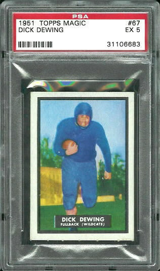 1951 Topps Magic #67 - Dick Dewing - PSA 5