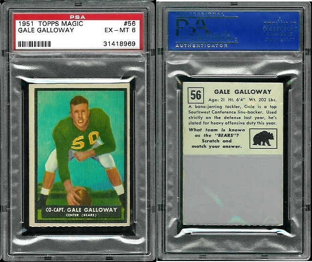 1951 Topps Magic #56 - Gale Galloway - PSA 6