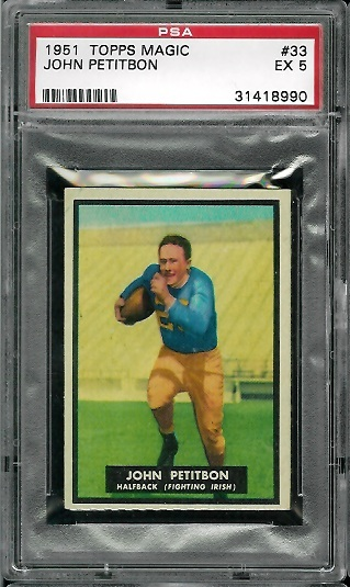 1951 Topps Magic #33 - John Petitbon - PSA 5