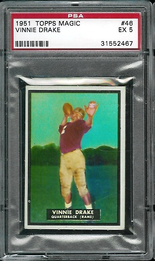 1951 Topps Magic #46 - Vinnie Drake - PSA 5