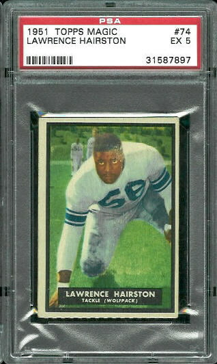 1951 Topps Magic #74 - Lawrence Hairston - PSA 5