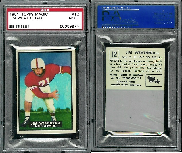1951 Topps Magic #12 - Jim Weatherall - PSA 7