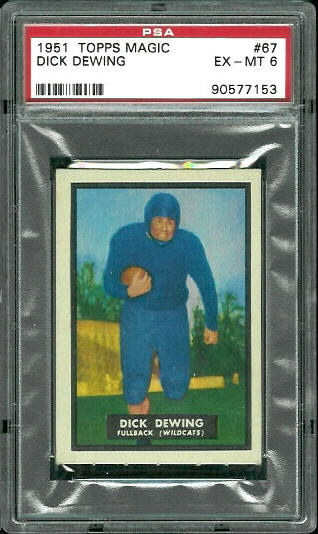 1951 Topps Magic #67 - Dick Dewing - PSA 6