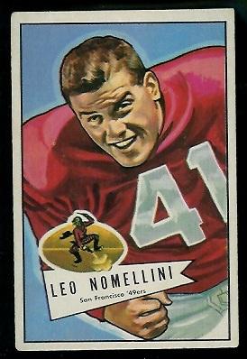 1952 Bowman Large #125 - Leo Nomellini - vg-ex