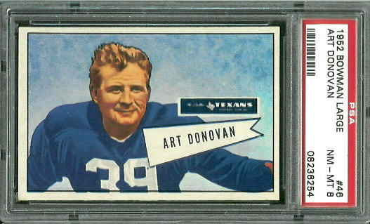 1952 Bowman Large #46 - Art Donovan - PSA 8