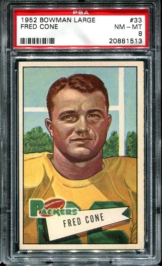 1952 Bowman Large #33 - Fred Cone - PSA 8