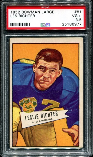 1952 Bowman Large #61 - Les Richter - PSA 3.5