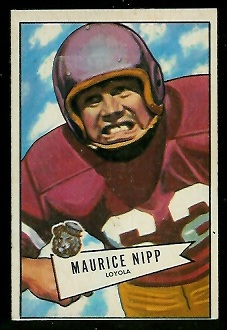 1952 Bowman Small #107 - Maurice Nipp - ex